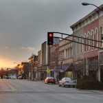 East_Main_Street_at_Broadway_Avenue_Urbana,_IL_sunset