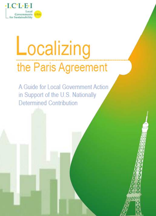 Localizing The Paris Agreement Guide For Local Government